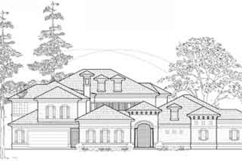 European Exterior - Front Elevation Plan #61-375 - Houseplans.com