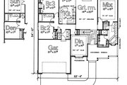 Traditional Style House Plan - 3 Beds 2 Baths 1710 Sq/Ft Plan #20-138 Floor Plan - Main Floor