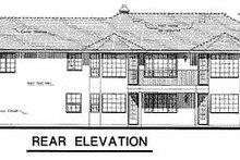 House Blueprint - Ranch Exterior - Rear Elevation Plan #18-119