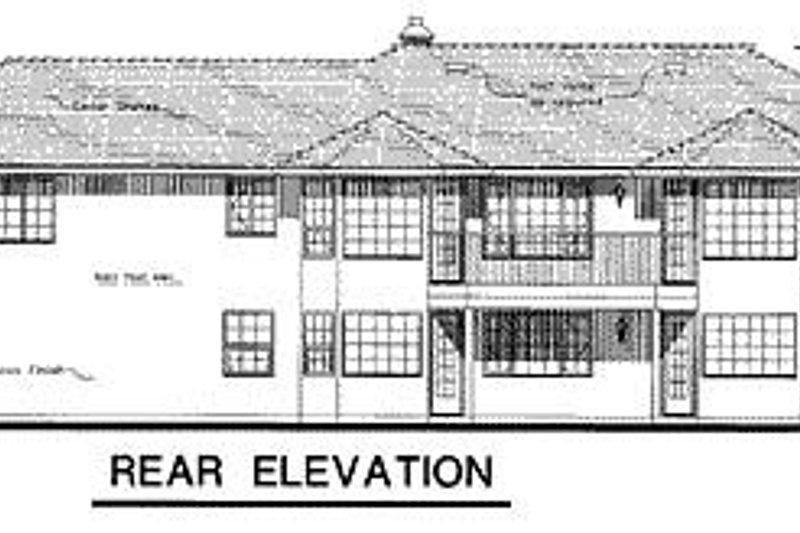 Ranch Exterior - Rear Elevation Plan #18-119 - Houseplans.com