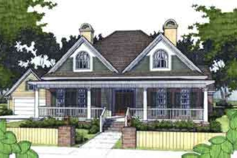 Farmhouse Style House Plan - 3 Beds 2 Baths 1858 Sq/Ft Plan #120-149 Exterior - Front Elevation