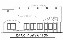 Dream House Plan - Bungalow Exterior - Rear Elevation Plan #20-1606