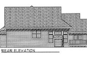 Traditional Style House Plan - 3 Beds 2.5 Baths 1898 Sq/Ft Plan #70-232 Exterior - Rear Elevation