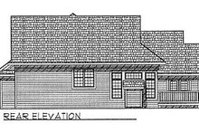Traditional Exterior - Rear Elevation Plan #70-232