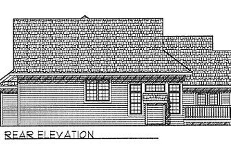 Traditional Exterior - Rear Elevation Plan #70-232 - Houseplans.com