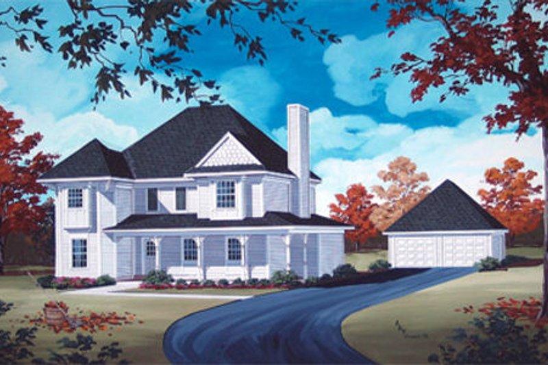 Dream House Plan - Victorian Exterior - Front Elevation Plan #45-345
