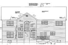 Colonial Exterior - Rear Elevation Plan #3-226