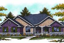 Dream House Plan - European Exterior - Front Elevation Plan #70-874