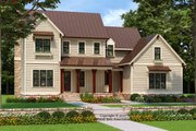 Farmhouse Style House Plan - 4 Beds 4 Baths 2545 Sq/Ft Plan #927-990 Exterior - Front Elevation