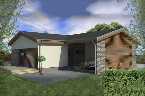 Modern Exterior - Front Elevation Plan #906-14