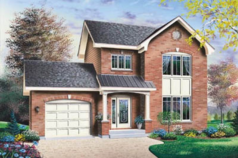 Architectural House Design - Traditional Exterior - Front Elevation Plan #23-2157
