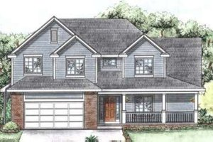Traditional Exterior - Front Elevation Plan #20-1711
