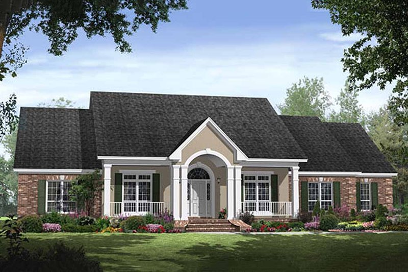 Traditional Exterior - Front Elevation Plan #21-285 - Houseplans.com