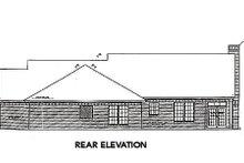 Dream House Plan - Farmhouse Exterior - Rear Elevation Plan #310-662