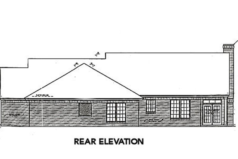 Farmhouse Exterior - Rear Elevation Plan #310-662 - Houseplans.com