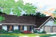 Ranch Style House Plan - 3 Beds 2 Baths 1000 Sq/Ft Plan #45-222 Exterior - Front Elevation