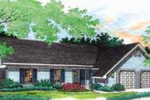 Ranch Exterior - Front Elevation Plan #45-222