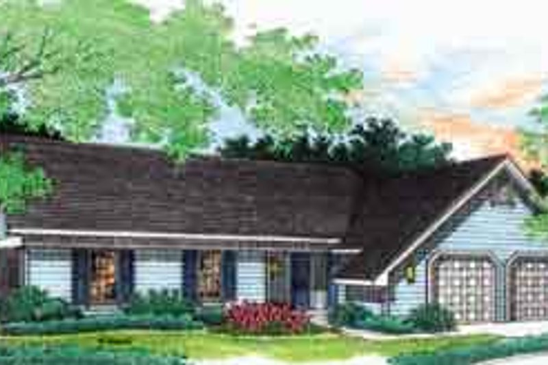 Dream House Plan - Ranch Exterior - Front Elevation Plan #45-222