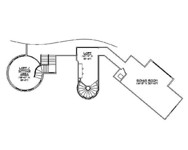 Country Floor Plan - Upper Floor Plan Plan #5-417