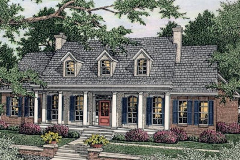Southern Exterior - Front Elevation Plan #406-103 - Houseplans.com