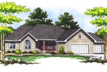 Traditional Exterior - Front Elevation Plan #70-282