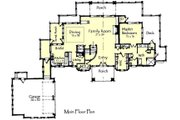 Craftsman Style House Plan - 4 Beds 3.5 Baths 4418 Sq/Ft Plan #921-15 Floor Plan - Main Floor Plan