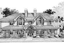 Architectural House Design - Country Exterior - Front Elevation Plan #57-143