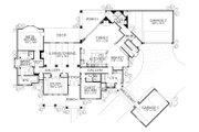 European Style House Plan - 5 Beds 5 Baths 4465 Sq/Ft Plan #80-161 Floor Plan - Main Floor