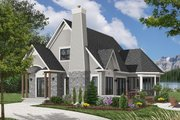 Cottage Style House Plan - 3 Beds 2 Baths 1590 Sq/Ft Plan #23-614 Exterior - Front Elevation