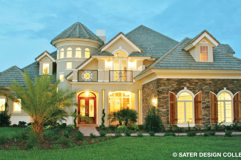 Country Exterior - Front Elevation Plan #930-273