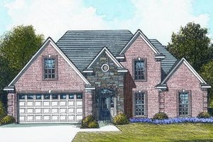 Traditional Exterior - Front Elevation Plan #424-287