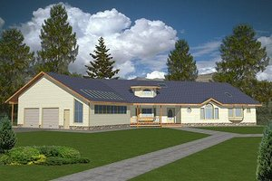 Architectural House Design - Traditional Exterior - Front Elevation Plan #117-141