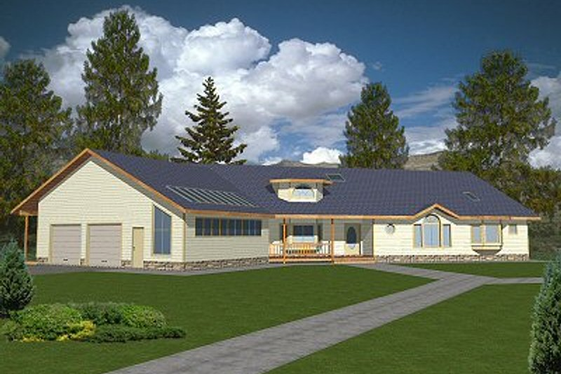 Traditional Exterior - Front Elevation Plan #117-141 - Houseplans.com