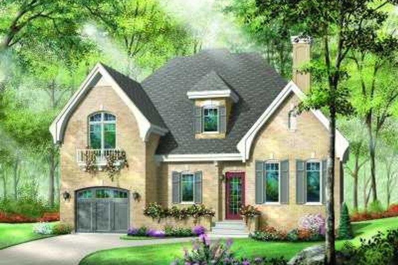 Dream House Plan - European Exterior - Front Elevation Plan #23-361