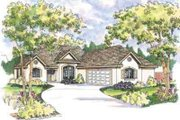 European Style House Plan - 3 Beds 2 Baths 1605 Sq/Ft Plan #124-476 Exterior - Front Elevation