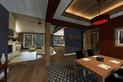 Craftsman Style House Plan - 3 Beds 2 Baths 1724 Sq/Ft Plan #51-521 Exterior - Other Elevation