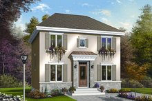 European Exterior - Front Elevation Plan #23-732