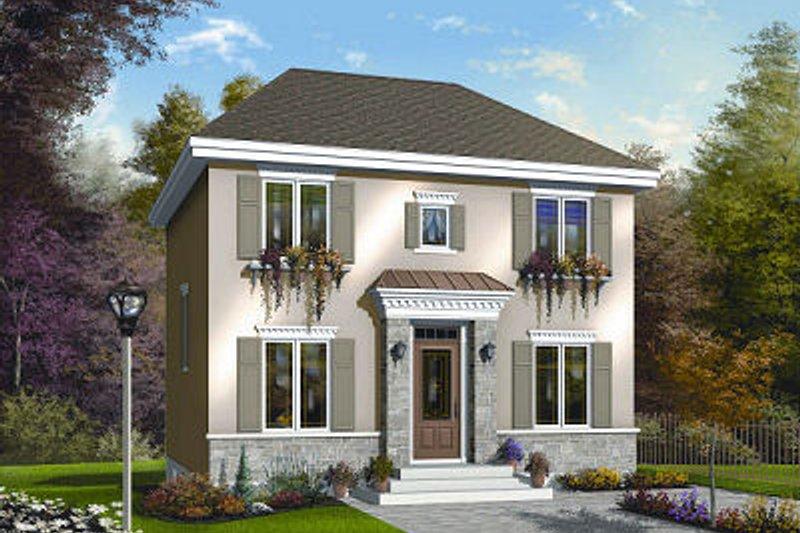 House Plan Design - European Exterior - Front Elevation Plan #23-732