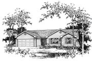 Ranch Style House Plan - 3 Beds 2 Baths 1418 Sq/Ft Plan #22-523 Exterior - Other Elevation