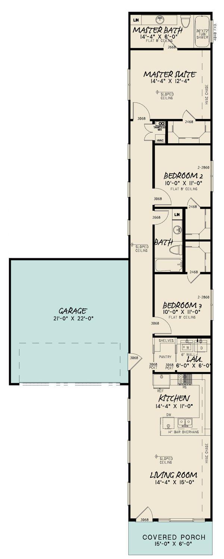 Home Plan - Contemporary Floor Plan - Main Floor Plan #923-194