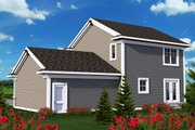 Traditional Style House Plan - 3 Beds 2.5 Baths 1569 Sq/Ft Plan #70-1160 Exterior - Rear Elevation