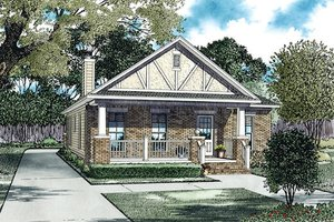 Cottage Exterior - Front Elevation Plan #17-2471