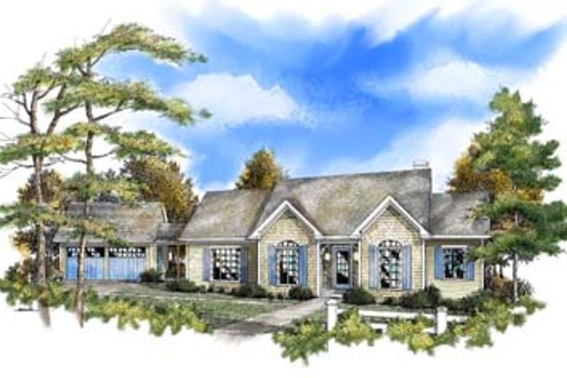 Traditional Style House Plan - 3 Beds 2 Baths 1822 Sq/Ft Plan #71-107