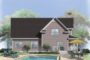 Country Style House Plan - 3 Beds 2.5 Baths 1669 Sq/Ft Plan #929-333 Exterior - Rear Elevation