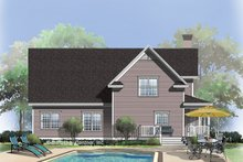 Country Exterior - Rear Elevation Plan #929-333