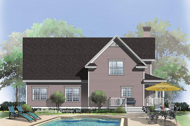 Country Exterior - Rear Elevation Plan #929-333 - Houseplans.com