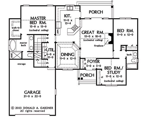 House Plan Design - Opt. Basement Stair Location