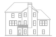 Home Plan - Traditional Exterior - Rear Elevation Plan #419-266