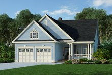 Architectural House Design - Ranch Exterior - Front Elevation Plan #929-662