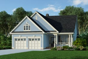 Ranch Exterior - Front Elevation Plan #929-662